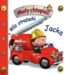 Mały chłopiec. Wóz strażacki Jacka