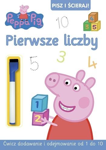 Pepa Pig. Pisz i ścieraj. Pierwsze liczby  MAZAK ZMYWALNY praca zbiorowa