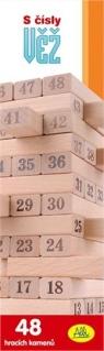 Wieża numeryczna gra typu jenga