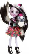 Enchantimals Lalka + Zwierzątko, Sage Skunk (DVH87/DYC75)
