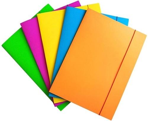 Teczka z gumką Fluo lakierowana A4 mix kolorów (21191161-99)