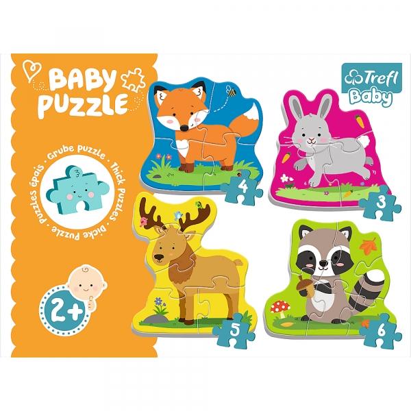 Puzzle Baby Classic 4w1: Zwierzątka leśne (36077)