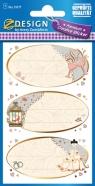 Naklejki papierowe ślubne (55177)