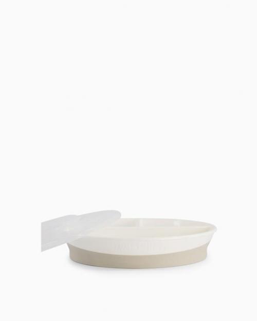 Twistshake Talerz z Przegródkami 6m+ Biały