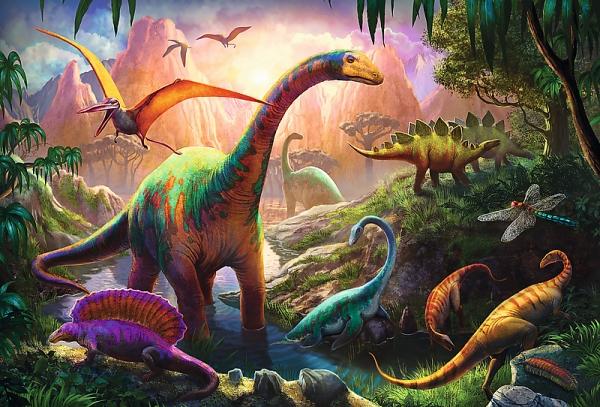Puzzle 100: Świat dinozaurów (16277)