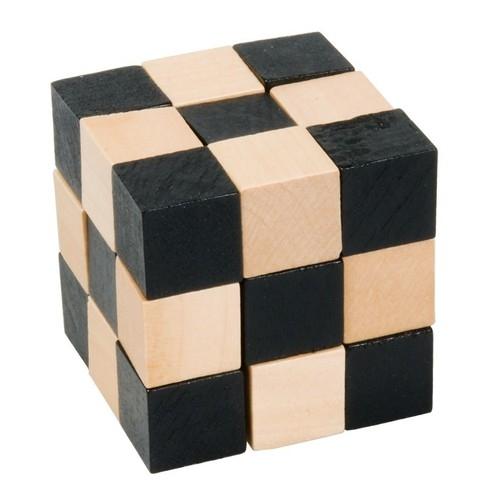 IQ-Test Kostka Magiczny Wąż drewno naturalny/czarny