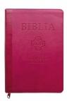 Biblia Pierwszego Kościoła pu różowa z paginatorami i suwakiem