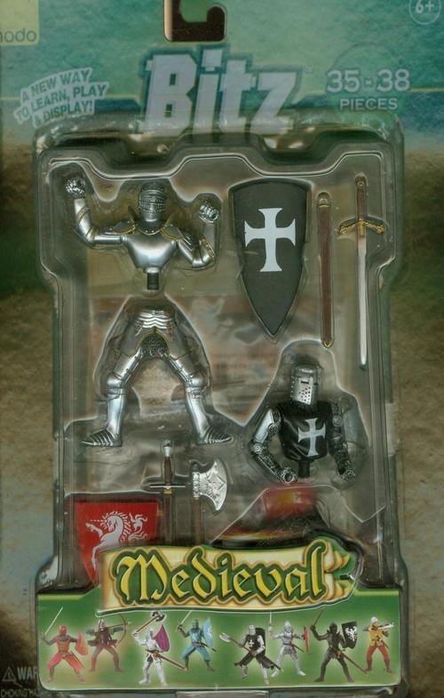 Figurki angielski rycerz i krzyżowiec