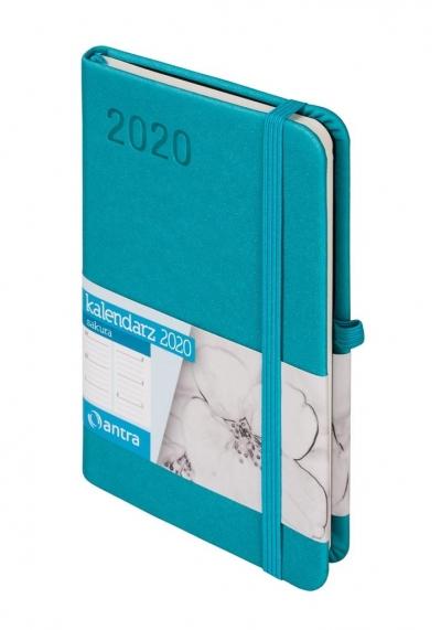 Sakura Kalendarz A6 TDW turkusowy 2020 -