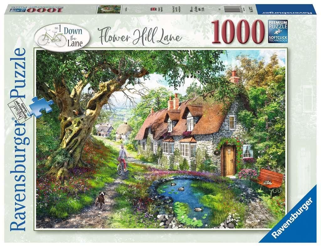 Puzzle 1000: Droga wśród wzgórza kwiatów (16777)
