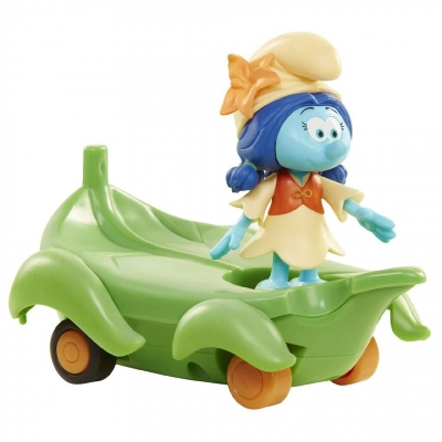 Smerfy Figurka + pojazd - Lolijka na liściu