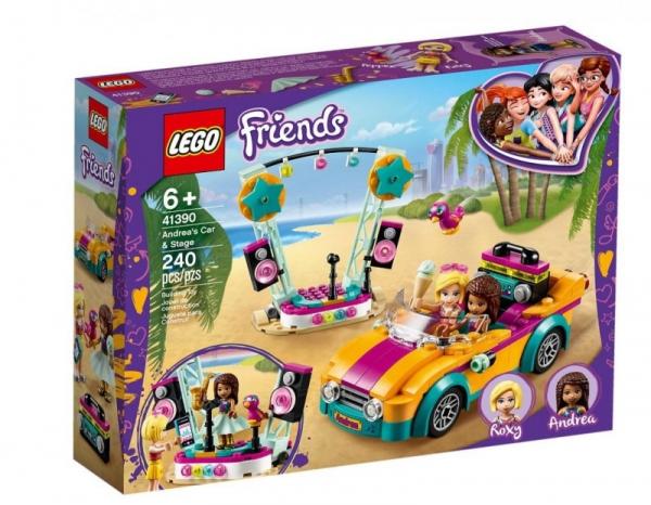 LEGO Friends Samochód i scena Andrei (41390)
