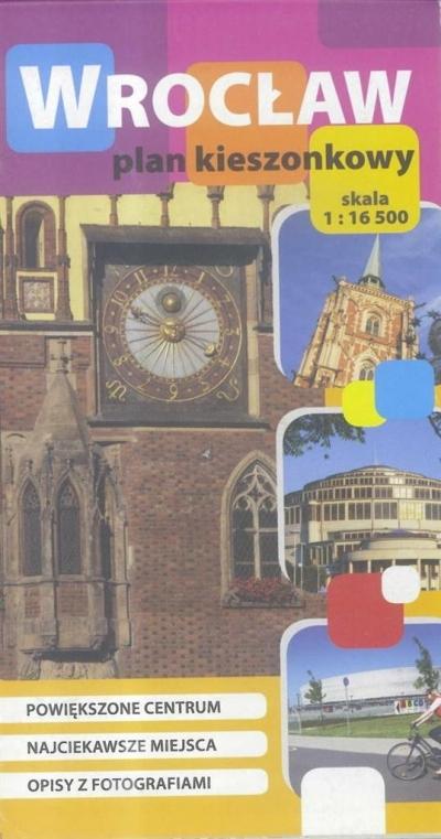 Plan kieszonkowy - Wrocław w.polska 1:16 500 praca zbiorowa