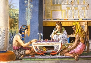 Puzzle 1000 Copy of Egyptian Chess Players, Sir Lawrence Alma-Tadema (102778) praca zbiorowa