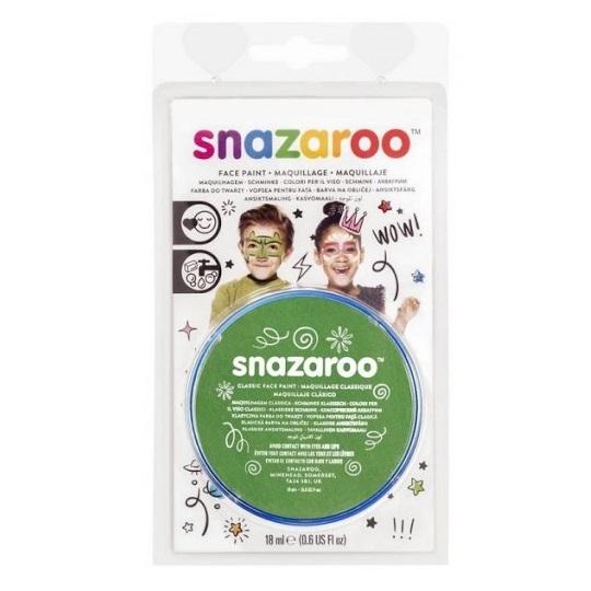 Farba do twarzy i ciała Snazaroo 18ml - zieleń trawiasta (1118477)