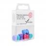 Magnesy pastelowe mix kolorów 13mm - 10 szt. (VO5013KM10-99P)