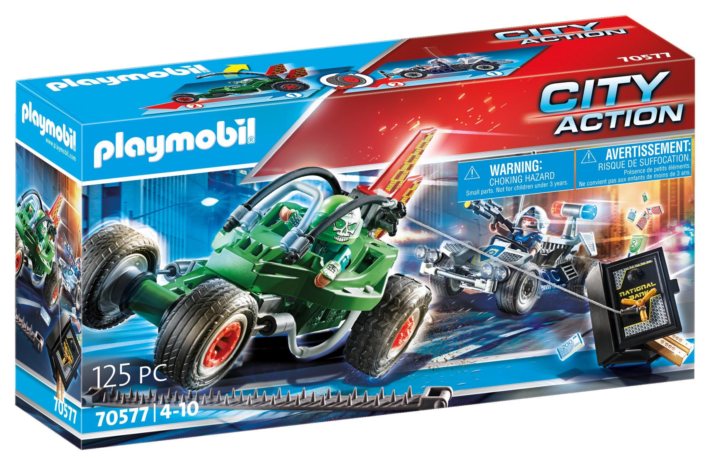 Playmobil City Action: Policyjny gokart: Pościg za włamywaczem do sejfu (70577)