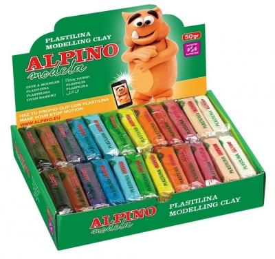 Plastelina 50g 2x12 kolorów ALPINO