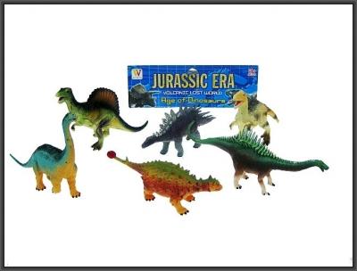 Figurka Hipo 15-17cm Dinozaur Dinozaury 6szt. (HHB02)