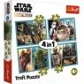 Puzzle 4w1: Star Wars - Mandalorian i jego świat  (34377)