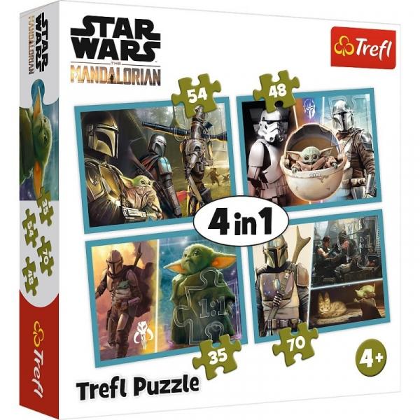 Puzzle 4w1 Mandalorian i jego świat Star Wars (34377)