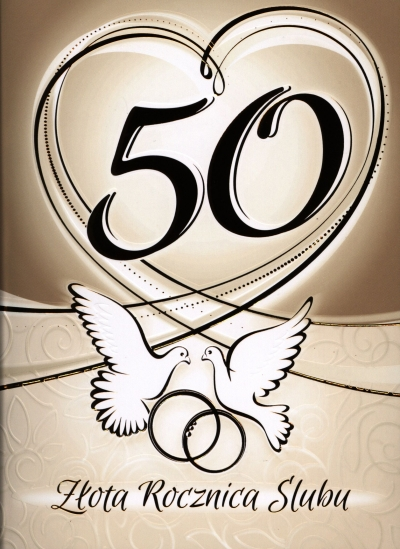 Karnet 50 rocznica ślubu RS0350 .