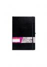 Notes A6 kieszonkowy z gumką Formalizm linia czarny