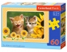Puzzle Two Kittens with Sunflowers 60 elementów (06779)