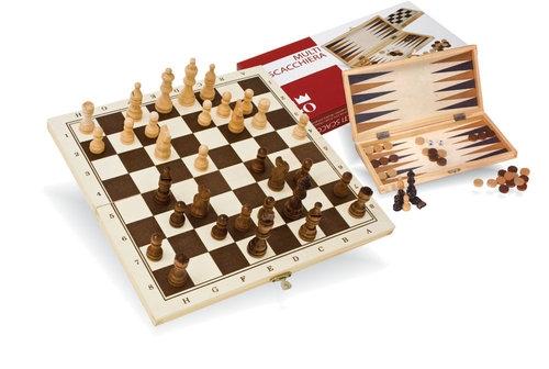Szachy i Backgammon drewniane