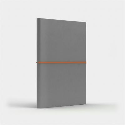 Notatnik A5 Fun M kropki jasnoszary/pomarańczowy