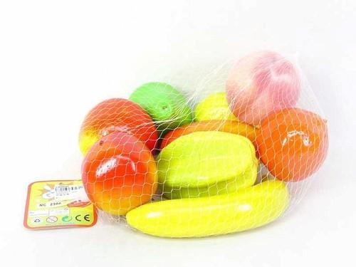 Owoce styropianowe w siatce 9 sztuk w siatce
