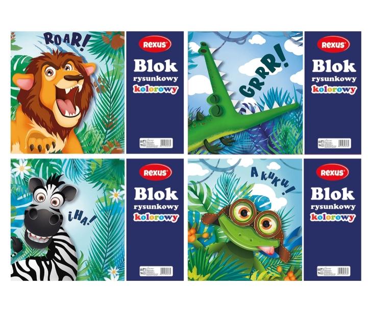 Blok rysunkowy Rexus A4/16k - kolorowy (603478)