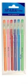 Długopis Pearl 0,6mm niebieski 6szt SPARK LINE