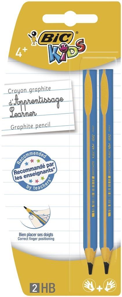 Ołówek grafitowy Bic Kids trójkątny Beginners 2 sztuki mix kolorów