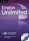 English Unlimited Pre-intermediate Self-study Pack Workbook + DVD