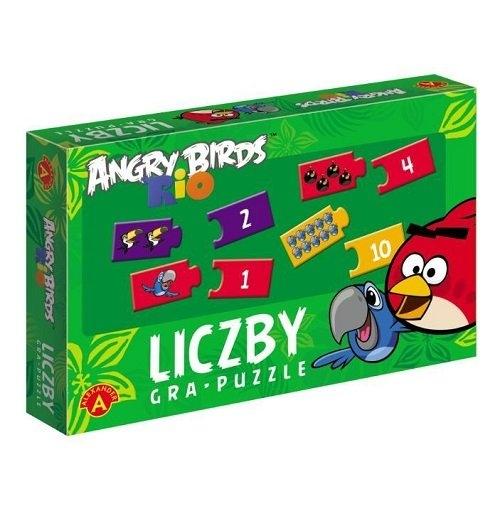 Gra-Puzzle Liczby Angry Birds Rio