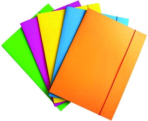 Teczka z gumką Fluo karton/lakier A4 3-skrzydłowa mix kolorów 25 sztuk (21191161-99)