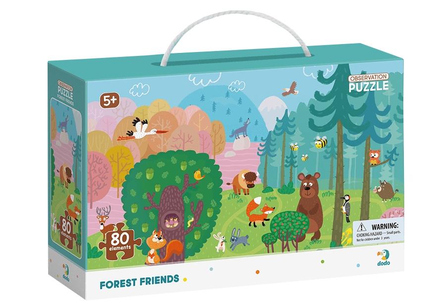 Puzzle obserwacyjne 80: Leśni przyjaciele (DOP300140)