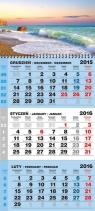 Kalendarz 2015 Trójdzielny bindowany MAT