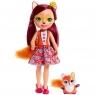 Enchantimals - Duża Lalka Felicity Fox i zwierzątko lisek Flick