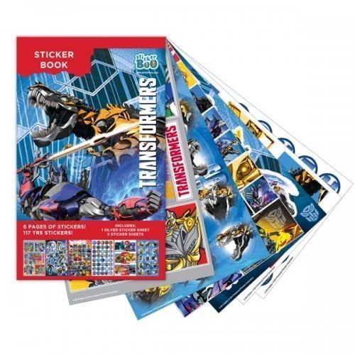 Książeczka z naklejkami Transformers