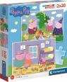 Clementoni, puzzle SuperColor 2x20: Świnka Peppa (24778)