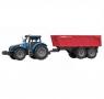 Traktor z przyczepą, dźwiękami i światłem MIX (107783)