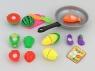 Artykuły kuchenne Adar zestaw sztucznych owoców i warzyw, na rzep, z patelnią