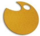 Wstążki filcowe 0,5cm. x 6m kolor żółty 13 sztuk