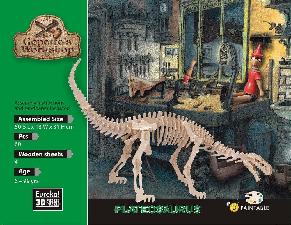 Łamigłówka drewniana Gepetto - Plateozaur (106151)