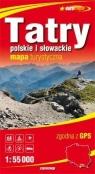 Tatry polskie i słowackie 1:55 000 papierowa mapa turystyczna