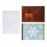 Zestaw 2 kartek Boże Narodzenie CHRISTMAS JOY
