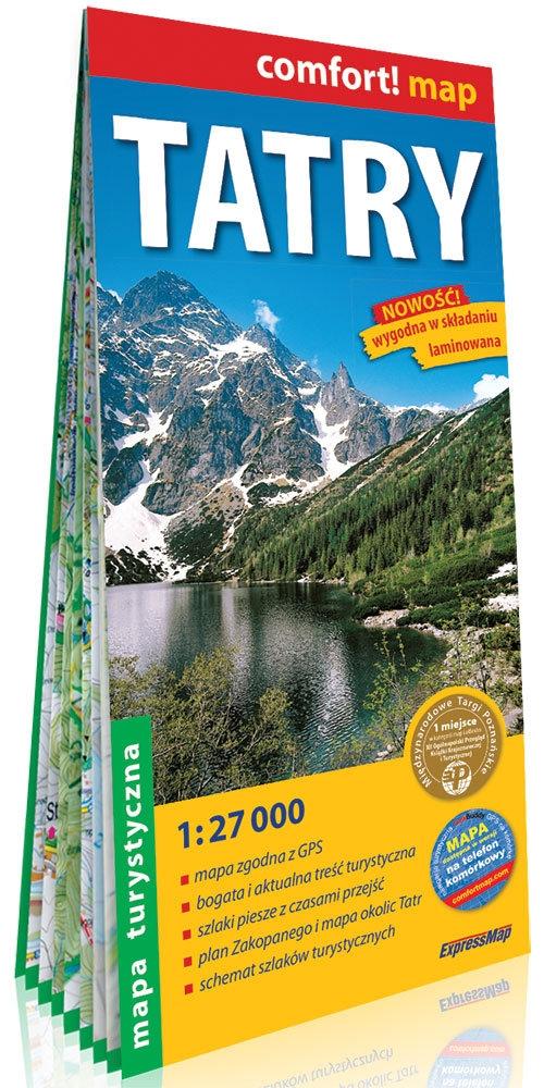 Tatry laminowana mapa turystyczna 1:27 000