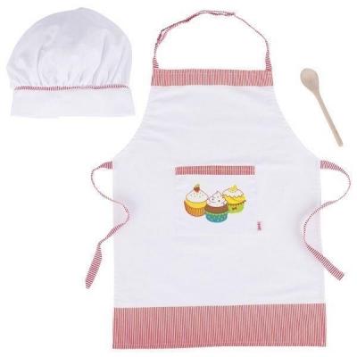Akcesoria kucharza - fartuch czapka łyżka (GOKI-51678)